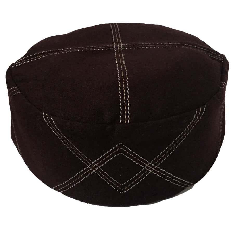 1a7b7e21ab4 Buy warm fleece dark brown cloth contrasting prayer cap kufi online in  pakistan jpg 900x900 Cloth