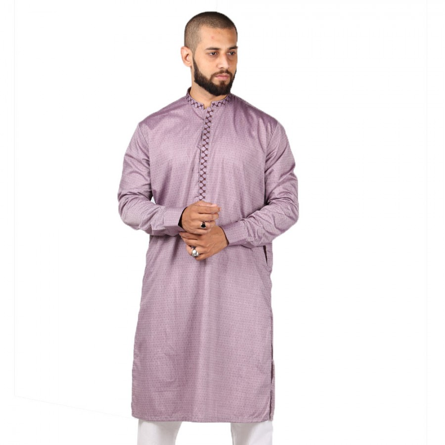 Purple Color Light Embroidered Kurta KKK-02-02