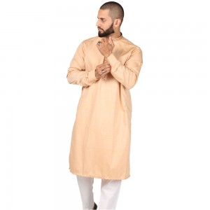 Peach Color Light Embroidered Kurta KKK-02-03