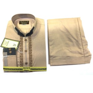 Skin Color Cotton Designer Kameez Shalwar For Him PR-001