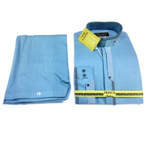 Light Blue Color Cotton Designer Kameez Shalwar For Him PR-006