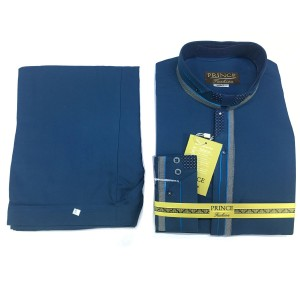 Dark Blue Color Cotton Designer Kameez Shalwar For Him PR-009