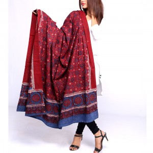 Pure Cotton Herbal Dyed Block Printed Sindhi Ajrak (Original) SA-33