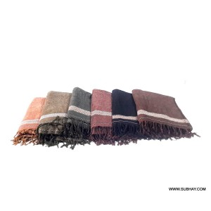Pack of 6 Pure Velvet Dhussa / Khamdar Shawl SHL-150-7 By Khan Culture