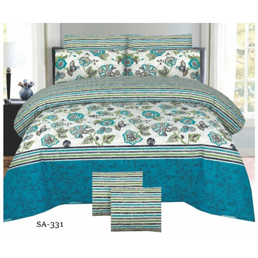 Cotton Printed Bed Sheet Sets [All Sizes] Design CC-786