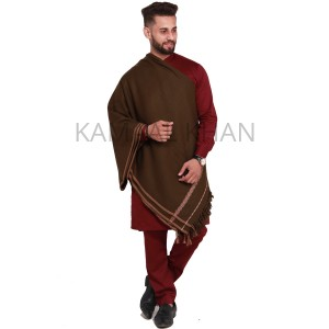 Mehandi Pure Acro-Woolen Dhussa Shawl For Man SHL-030-5