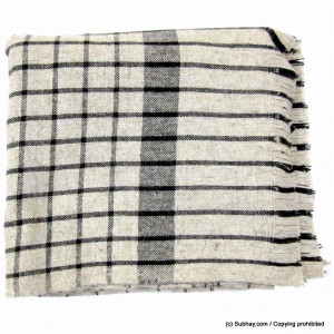 Pure Wool Light Bannu Checkered / Khamdar Shawl SHL-159-1 By Khan Culture