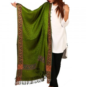 Mehendi Kashmiri 4 Border Shawl For Her SHL-147-20
