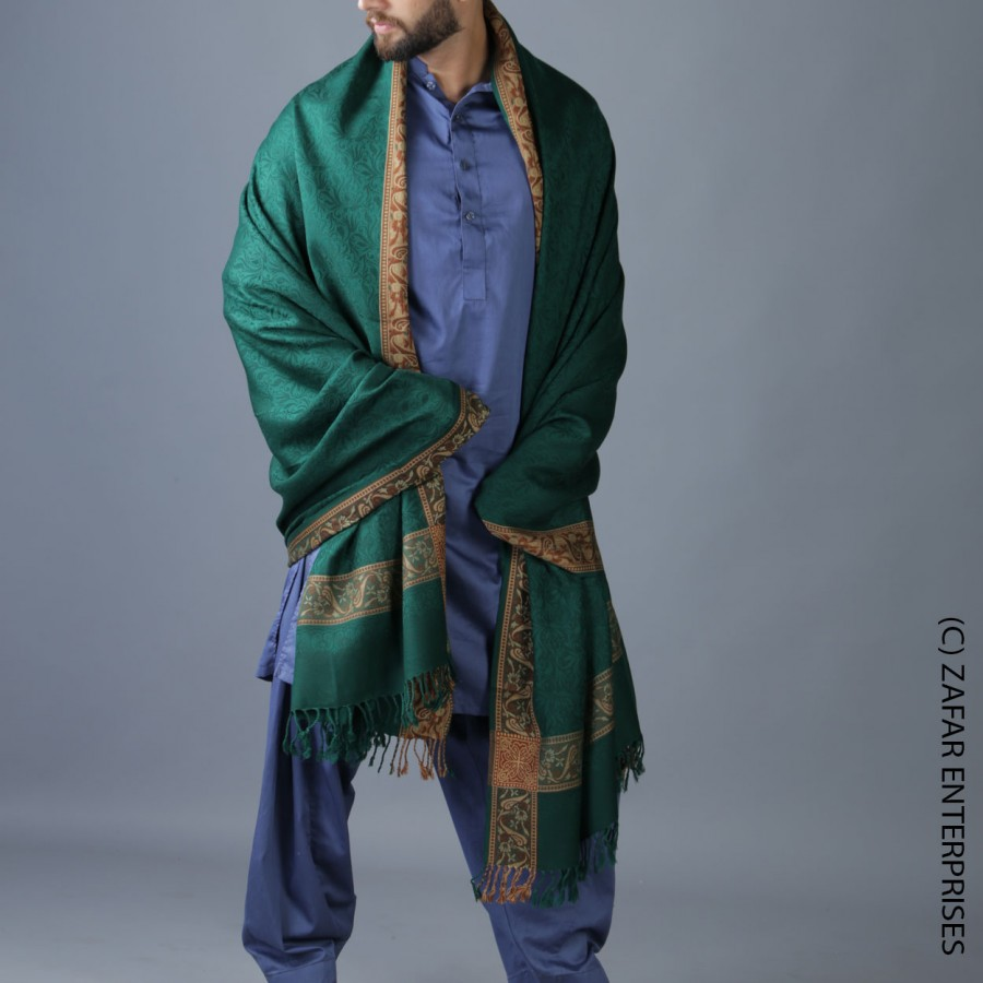 Mongia 4 Border Karbala Style Chadder Shawl SHL-182-6