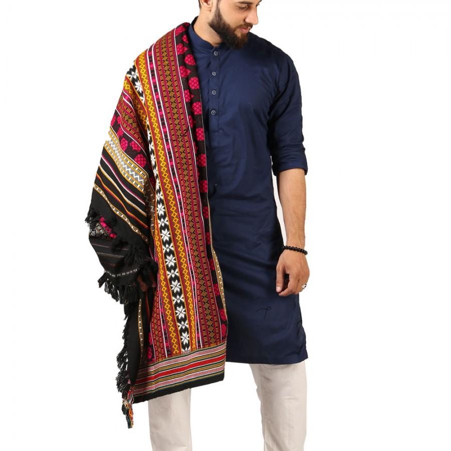 Pink Sindhi Tharri / Khatri  / Wadera Shawl SHL-112-20