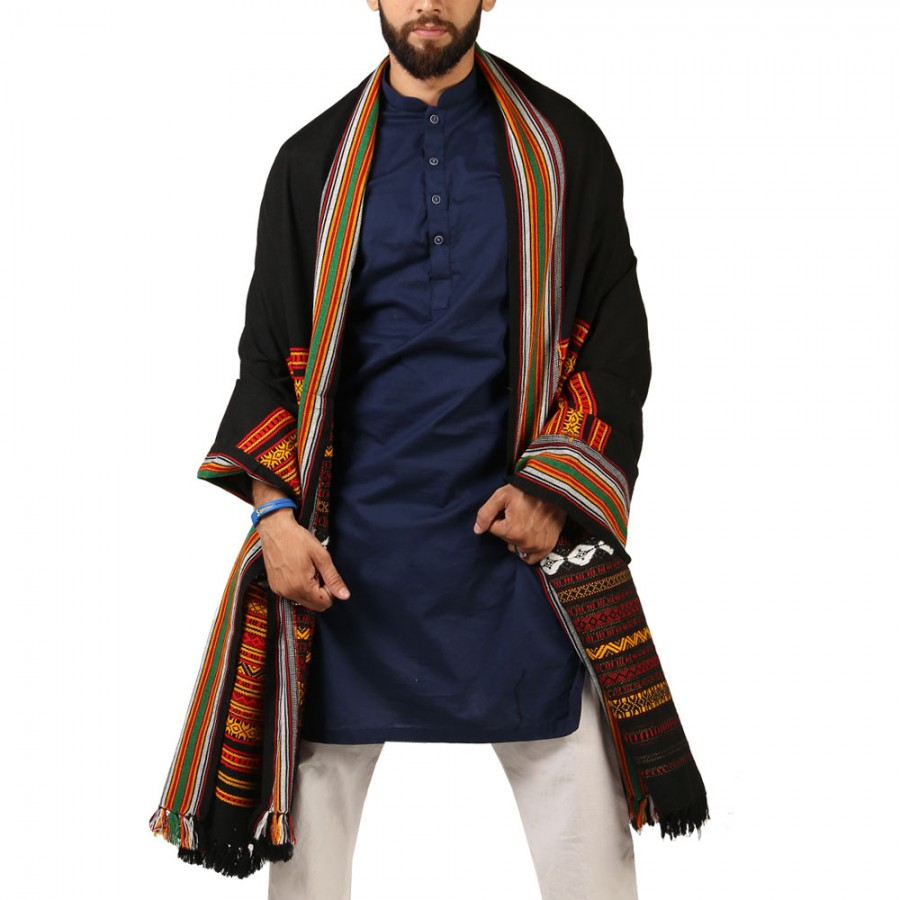 Red Sindhi Tharri / Khatri  / Wadera Shawl SHL-112-18