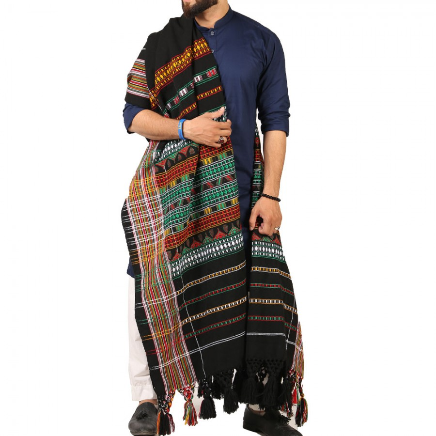 Handmade Sindhi Tharri / Khatri  / Wadera Shawl SHL-110-2