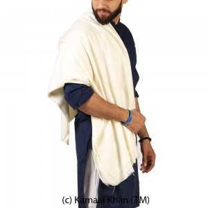 White Water Pashmina Handamde Kingri Shawl For Him SHL-244-1