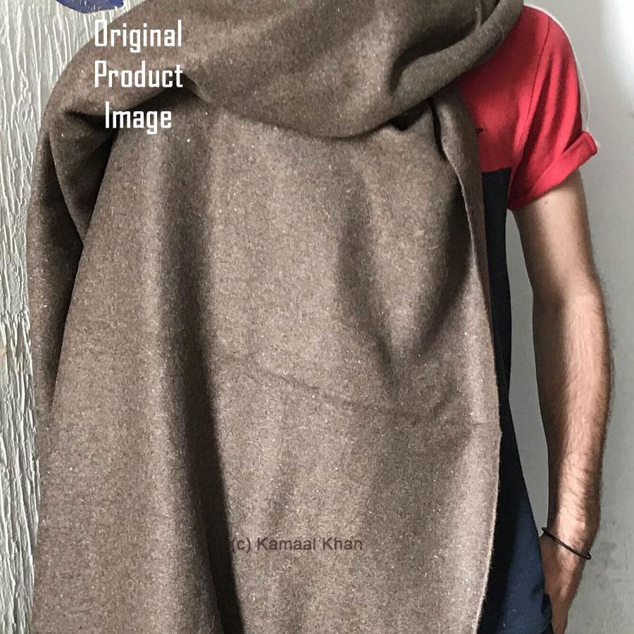 Dark Brown Premium Bannu Pashmina Handmade Sawati Dhussa Shawl For Man SHL-245-6