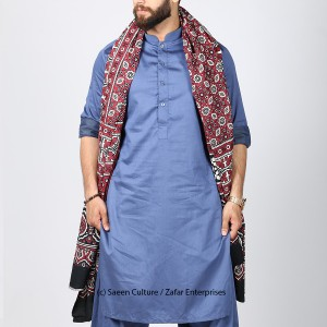 GURANTEED COTTON BLOCK PRINTED SINDHI AJRAK SA#01