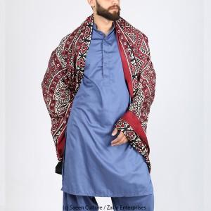Pure Cotton Sindhi 2 pc Ajrak For Him SA-01-3
