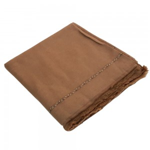 Badami Color Pure Woolen Light Weight Pashmina Dhussa Shawl For Him SHL-171-6