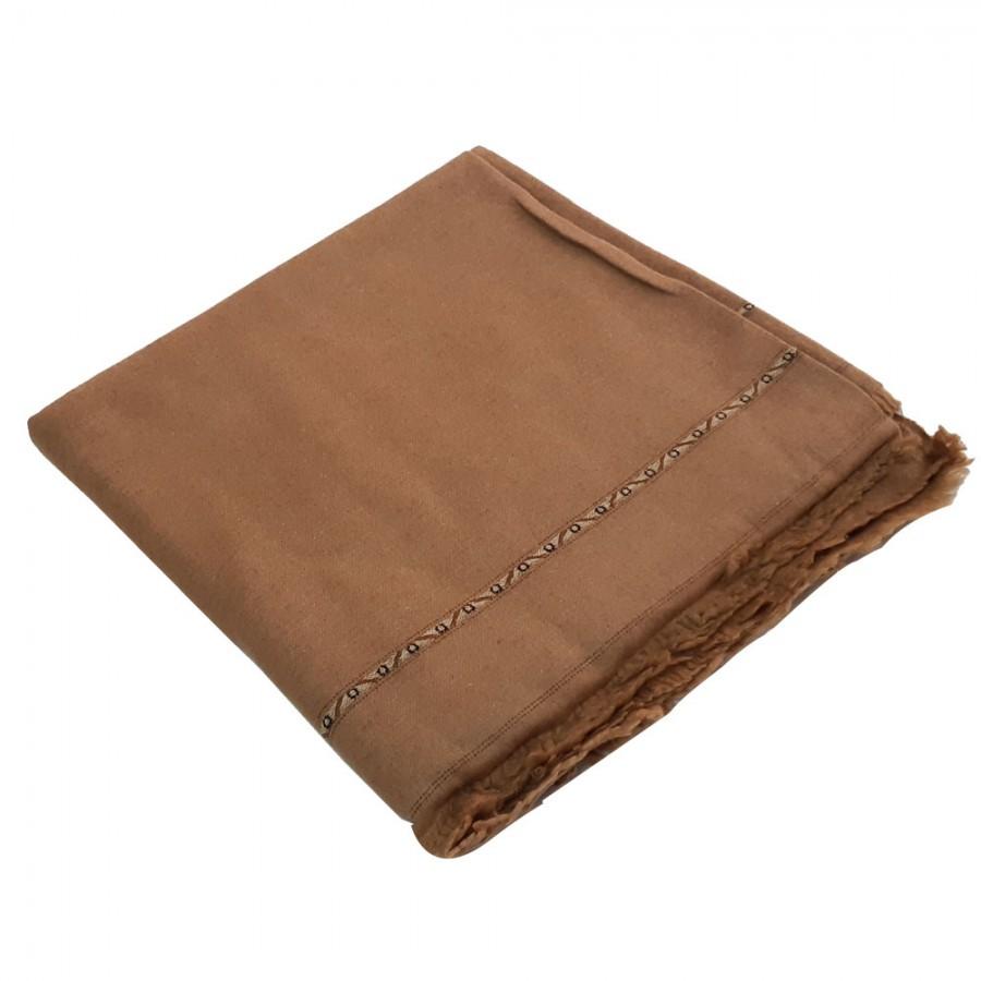 Badami Color Pure Woolen Light Weight Pashmina Dhussa Shawl For Him SHL-171-6