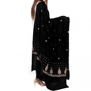 Black Pan Palla Embriored Shawl SHL-170-5