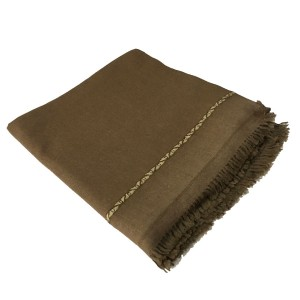 Dark Brown Pure Woolen Light Weight Pashmina Dhussa Shawl For Him SHL-172