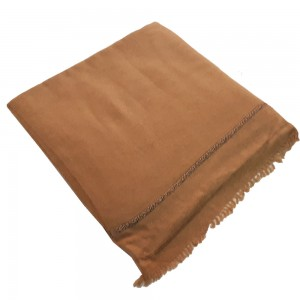 Brown Color Pure Woolen Light Weight Pashmina Dhussa Shawl For Him SHL-171-4