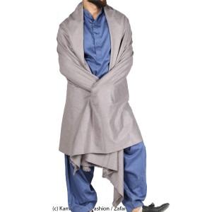Mix Woolen Grey  Color Kashmiri Lohi Shawl SHL-066-3
