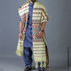 Boski Handmade Sindhi Tharri / Khatri  / Wadera Shawl SHL-110-4