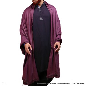 Mix Woolen Maroon (Sukh) Plain Kashmiri Shawl For Him SHL-066-7