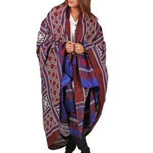 Pure Cotton Sindhi 2 pc Ajrak (Targarho Print) For Her SA-01-4
