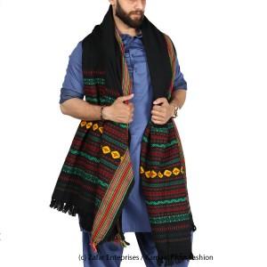 Green & Red Sindhi Tharri / Khatri  / Wadera Shawl SHL-112-14