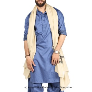 Beige Kashmiri Kingri Work (Handmade) Shawl For Him SHL-175-2