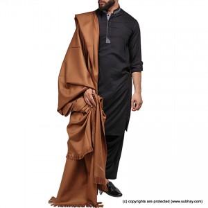 Mix Woolen Dark Badami Brown  Color Kashmiri Lohi Shawl SHL-066