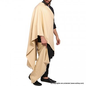 Skin Color Pure Woolen Light Weight Shawl For Him SHL-168-1