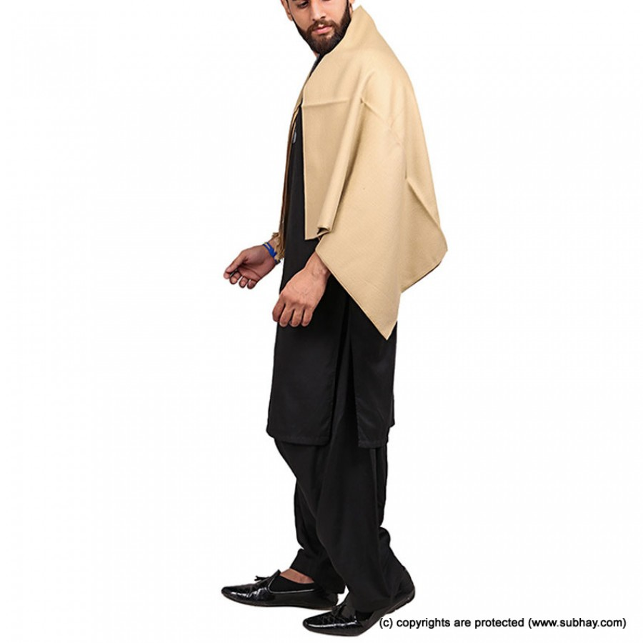 Pista Color Pure Woolen Light Weight Shawl For Him SHL-168-2
