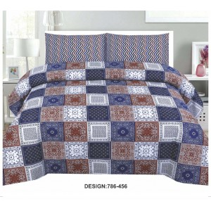 Cotton Printed Bed Sheet Sets [All Sizes] Design CC-695