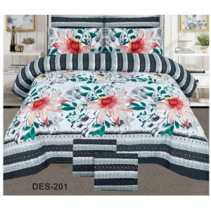 Cotton Printed Bed Sheet Sets [All Sizes] Design CC-693