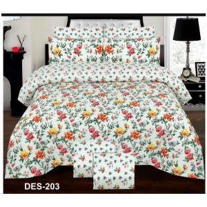 Cotton Printed Bed Sheet Sets [All Sizes] Design CC-692