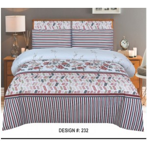 Cotton Printed Bed Sheet Sets [All Sizes] Design CC-683