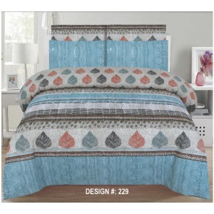 Cotton Printed Bed Sheet Sets [All Sizes] Design CC-479