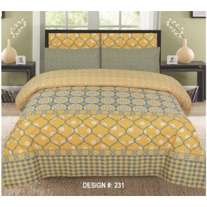 Cotton Printed Bed Sheet Sets [All Sizes] Design CC-477