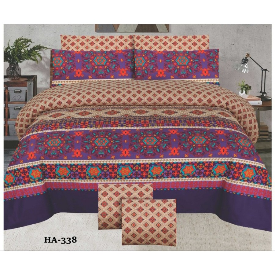 Cotton Printed Bed Sheet Sets [All Sizes] Design CC-733