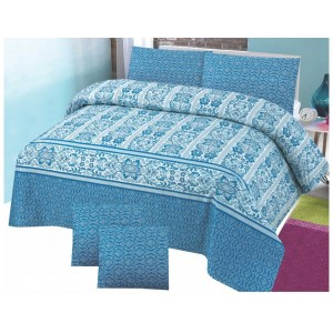 Cotton Printed Bed Sheet Sets [All Sizes] Design CC-681