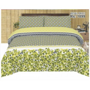 Cotton Printed Bed Sheet Sets [All Sizes] Design CC-686