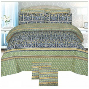 Cotton Printed Bed Sheet Sets [All Sizes] Design CC-691