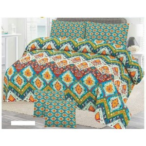 Cotton Printed Bed Sheet Sets [All Sizes] Design CC-696