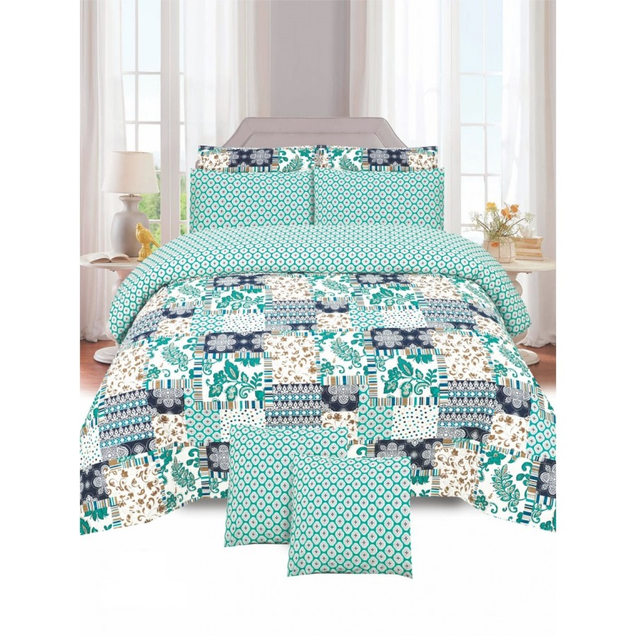 Cotton Printed Bed Sheet Sets [All Sizes] Design CC-740
