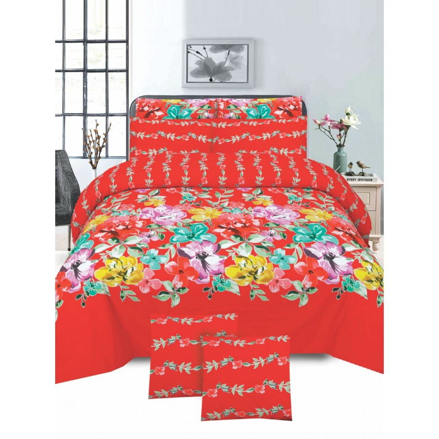 Cotton Printed Bed Sheet Sets [All Sizes] Design CC-742