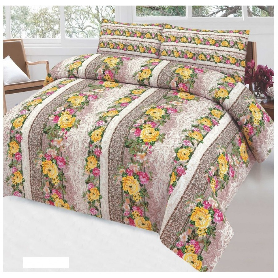 Cotton Printed Bed Sheet Sets [All Sizes] Design CC-745