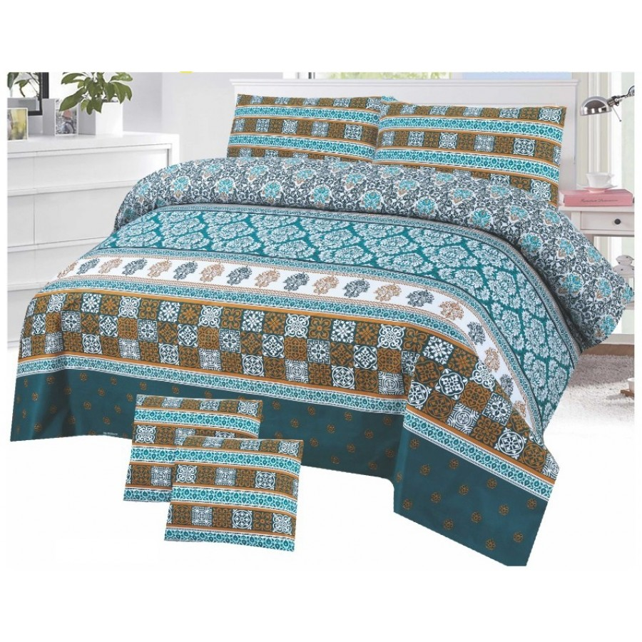 Cotton Printed Bed Sheet Sets [All Sizes] Design CC-747