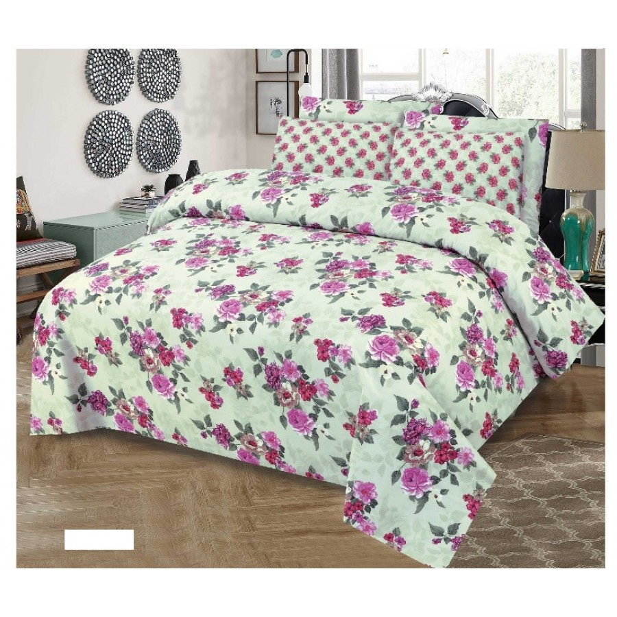 Cotton Printed Bed Sheet Sets [All Sizes] Design CC-735